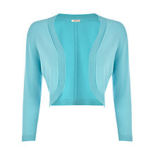 Buy Precis Petite Knitted Shrug, Aqua Online at johnlewis.com