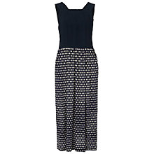 Buy French Connection Bacongoo Dot Jersey Maxi Dress, Utility Blue Online at johnlewis.com
