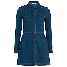 Buy French Connection Edie Denim Mini Dress, Enzyme Stone Online at johnlewis.com