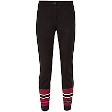 Buy Ted Baker Peah Stencilled Stripe Trousers, Black Online at johnlewis.com