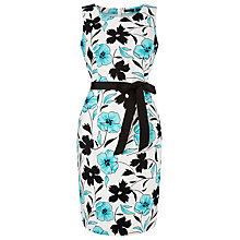 Buy Precis Petite Pique Printed Shift Dress, Multi Blue Online at johnlewis.com