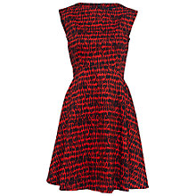 Buy French Connection Canyon Sands Flared Dress, Masai Red Online at johnlewis.com