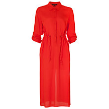 Buy French Connection Cecil Draped Shirt Dress, Masai Red Online at johnlewis.com