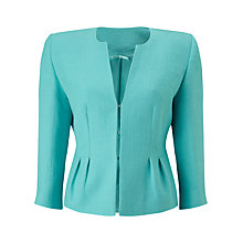 Buy Precis Petite Collarless Erhardt Jacket, Aqua Online at johnlewis.com