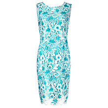 Buy Precis Petite Cotton Lace Shift Dress, Multi Blue Online at johnlewis.com