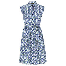 Buy Sugarhill Boutique Ethel Shirt Dress, Blue Floral Print Online at johnlewis.com