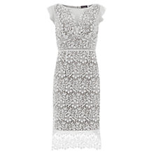 Buy Mint Velvet Lace Scallop Dress, Ivory/Dove Online at johnlewis.com