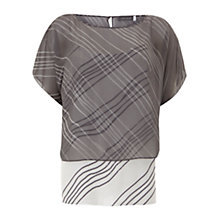 Buy Mint Velvet Lara Print Double Layer Top, Multi Online at johnlewis.com