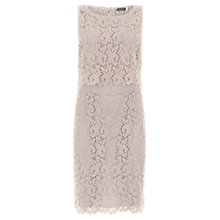 Buy Mint Velvet Shell Lace Layer Dress, Pale Pink Online at johnlewis.com