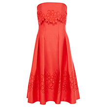 Buy Coast Narlia Bandeau Dress, Coral Online at johnlewis.com