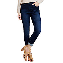 Buy Mint Velvet Langley High Waisted Skinny Jeans, Dark Indigo Online at johnlewis.com