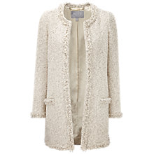 Buy Pure Collection Summer Tweed Jacket, Ivory Texture Online at johnlewis.com