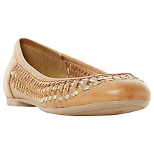Buy Dune Morran Woven Ballerina Pumps, Tan Online at johnlewis.com
