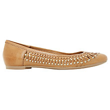 Buy Dune Morran Woven Ballet Pumps, Tan Online at johnlewis.com
