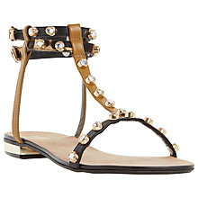 Buy Dune Nessey Stud Detail Sandals, Leopard Pony Online at johnlewis.com