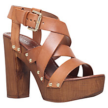 Buy Carvela Kookie Block Heeled Sandals, Tan Online at johnlewis.com