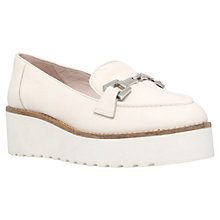 Buy Carvela Latch Flatform Slip On Loafers, White Leather Online at johnlewis.com
