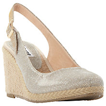 Buy Dune Karley Sling Back Wedge Sandal, Gold Online at johnlewis.com