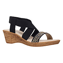 Buy Carvela Comfort Sand Wedge Sandals, Black Online at johnlewis.com