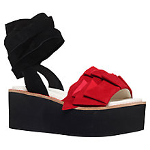 Buy Kurt Geiger Bonita Flatform Sandals, Red Online at johnlewis.com