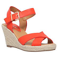 Buy Miss KG Pineapple Wedge Heeled Sandals, Orange Online at johnlewis.com