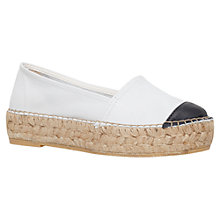Buy KG by Kurt Geiger Mellow Platform Espadrilles Online at johnlewis.com