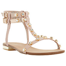 Buy Dune Nessey Stud Detail Sandal,  Blush Leather Online at johnlewis.com