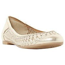 Buy Dune Morran Woven Ballerina Pumps, Gold Online at johnlewis.com