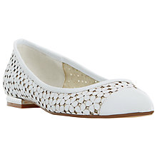 Buy Dune Hunnee Pointed Toe Patterned Pumps, White Online at johnlewis.com