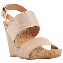 Buy Dune Kailee Elasticated Strap Wedge Sandals Online at johnlewis.com