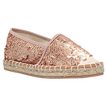 Buy Miss KG Desiree Espadrilles, Gold Sequin Online at johnlewis.com