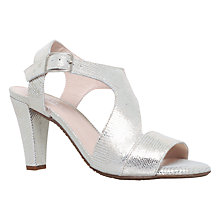 Buy Carvela Comfort Simona Heeled Sandals, Gold Online at johnlewis.com