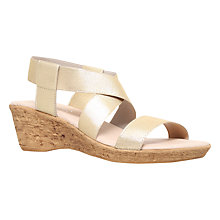 Buy Carvela Comfort Sand Wedge Sandals, Champagne Online at johnlewis.com