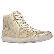 Buy KG by Kurt Geiger Ladder High Top Trainers, Gold Online at johnlewis.com