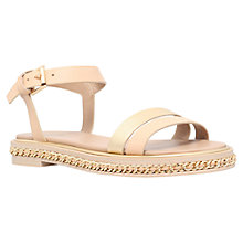 Buy KG by Kurt Geiger Minny Sandals, Nude Online at johnlewis.com