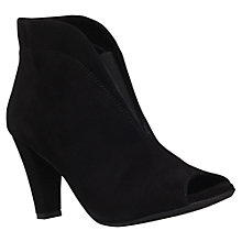 Buy Carvela Comfort Rachel High Cone Heel Ankle Boots, Black Suede Online at johnlewis.com