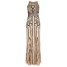 Buy Phase Eight Collection 8 Cygnus Embellished Dress, Taupe Online at johnlewis.com