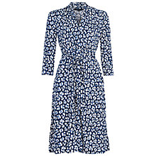 Buy French Connection Anna Animal Print Dress, White/Blue Online at johnlewis.com