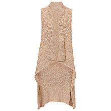 Buy Betty & Co. Long Knit Gilet, Nature/Rosé Online at johnlewis.com
