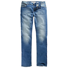 Buy Fat Face Straight Leg Jeans, Retro Blue Online at johnlewis.com