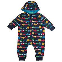 Buy Frugi Organic Baby Car Snuggle Crawlers Playsuit, Navy Online at johnlewis.com