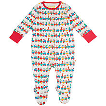 Buy Frugi Organic Baby Animal Sleepsuit, Multi Online at johnlewis.com