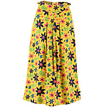 Buy Frugi Organic Girls' Corduroy Floral Dress, Yellow Online at johnlewis.com