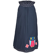 Buy Frugi Organic Girl's Reverse Owl Dress, Navy Online at johnlewis.com