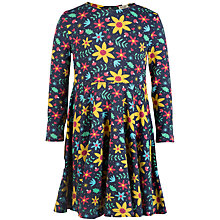 Buy Frugi Organic Girls' Floral Sofia Skater Dress, Navy/Multi Online at johnlewis.com