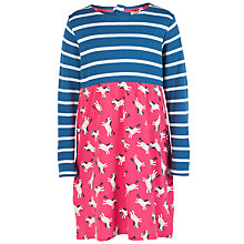 Buy Frugi Organic Girls' Bea Horse Print Stripe Dress, Pink/Multi Online at johnlewis.com