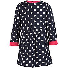 Buy Frugi Organic Girl's Spotted Dress, Navy Online at johnlewis.com