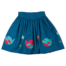 Buy Frugi Organic Girls' Leah Robin Border Twill Skirt, Ink Online at johnlewis.com