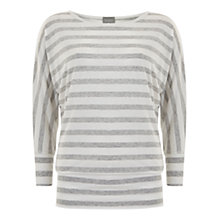 Buy Hygge by Mint Velvet Stripe Batwing Top, Grey/Ivory Online at johnlewis.com