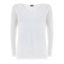 Buy Hygge by Mint Velvet Mesh Layered T-Shirt, Ivory Online at johnlewis.com